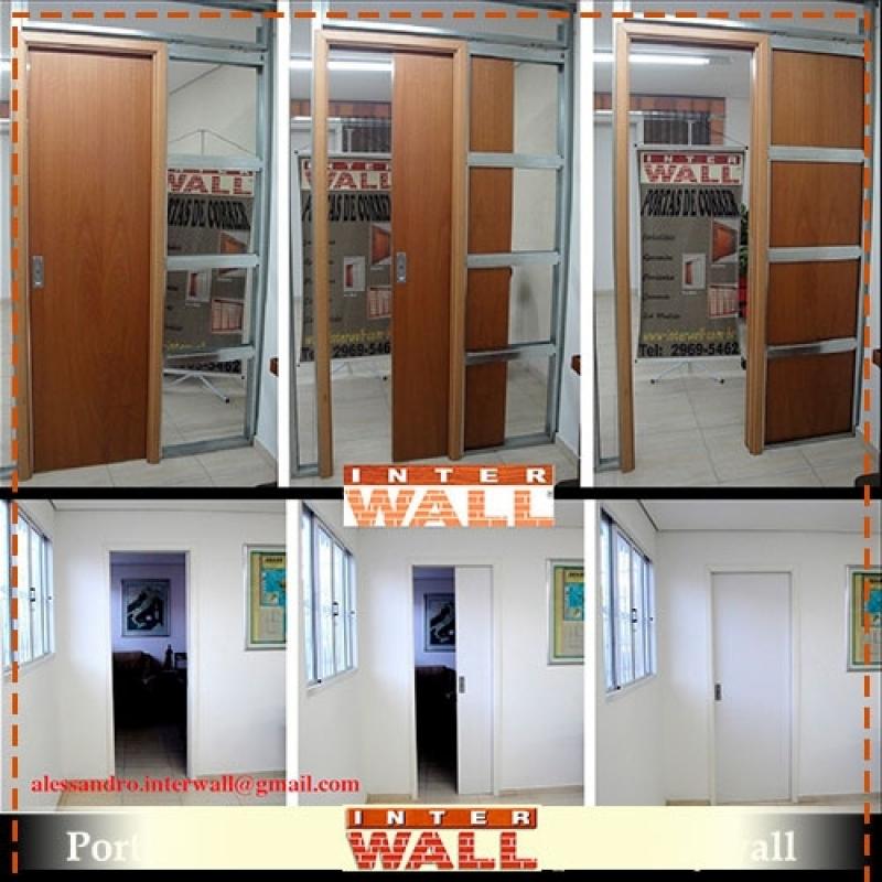 Empresa Porta de Correr Embutida Parede Drywall Local Caieiras - Empresa de Porta de Correr Embutidas para Banheiro