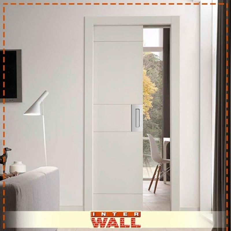 Onde Encontro Empresa Porta de Correr Embutida Parede Drywall Cotia - Empresa de Porta de Correr Embutidas para Banheiro
