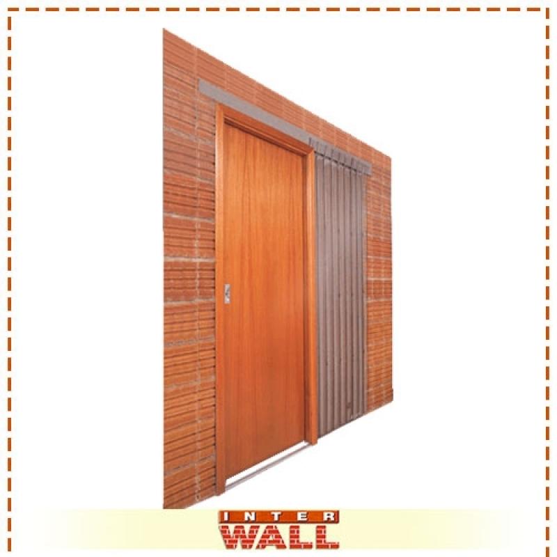 Porta de Correr de Madeira Dupla Valor Juquitiba - Porta de Correr de Madeira Grande