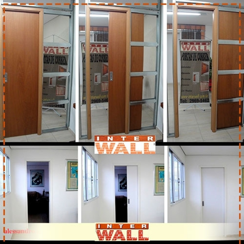 Portas de Correr em Madeira para Banheiro Caieiras - Porta de Correr em Madeira Instalação