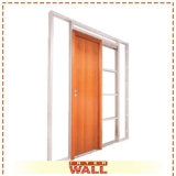 comprar porta de correr de madeira com vidro Litoral