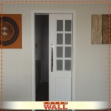 comprar porta de correr de madeira embutida Iguape