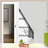 empresa porta de correr embutida parede drywall Suzano