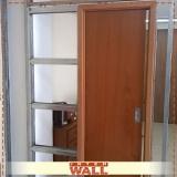 empresa portas de correr embutida parede drywall Campinas