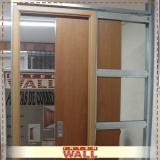 orçamento de porta de correr em madeira para corredor Santa Isabel