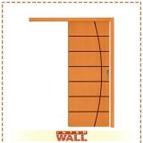porta de correr de madeira área externa valor Embu das Artes