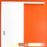 porta de correr de madeira área externa Litoral