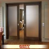 porta de correr de madeira com vidro Litoral