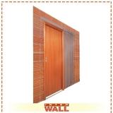 porta de correr de madeira embutida valor Cananéia