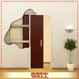 porta de correr de madeira escura valor Salesópolis