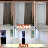 porta de correr em madeira instalação preço São Vicente