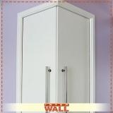 porta de correr em madeira para closet Suzano
