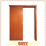 porta de correr em madeira para entrada preço Biritiba Mirim