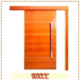 portas de correr de madeira 1 folha Embu Guaçú