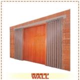 portas de correr de madeira dupla Cotia