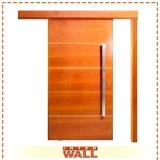 portas em madeira para sala completa Praia Grande
